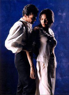"""Antonio Banderas y Angelina Jolie en """"Pecado Original"""", 2001"""