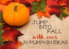 Jump into Fall with over 30 Pumpkin Ideas
