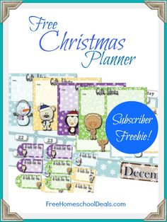 Free Christmas Planner from Free Homeschool Deals