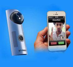 The Doorbot Door Bell Lets Users Answer the Door from Their Phone #doorbells trendhunter.com
