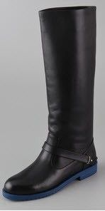 Jil Sander Navy black riding boots