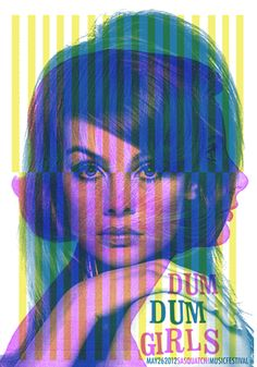 graphic designillus, music poster, graphic art, poster designs, indie posters, dum dum girls, concert posters, print, girl poster