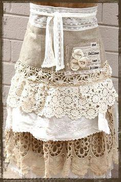 Lacy apron.