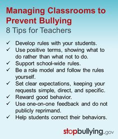 At many schools, safety starts in the classroom. Share these ways teachers can help prevent bullying & promote respect. #education #bullying #classroom #school