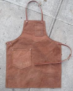 Waxed canvas apron.