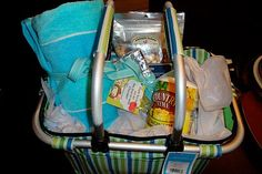 Beach gift basket- fill with a beach towel, lemonade, snacks, a good book, sunscreen, sunglasses, flip flops or anything else you want for a day at the beach