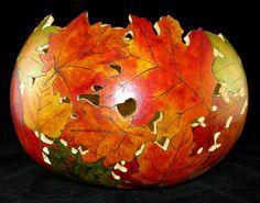Impossibly beautiful gourd leaf bowl
