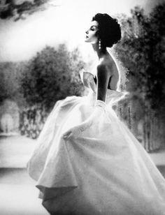 Photograph of Anne Sainte Marie by Lillian Bassman, 1950s.