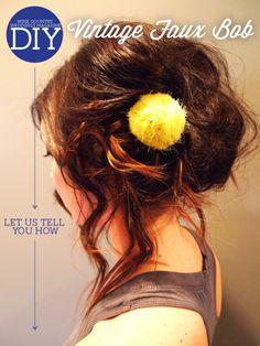 DIY Wedding Hairstyle: Vintage Faux Bob | Wine Country Weddings Magazine