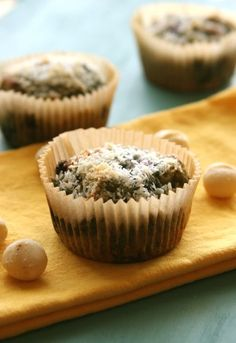 Blueberry Macadamia Muffins #paleo