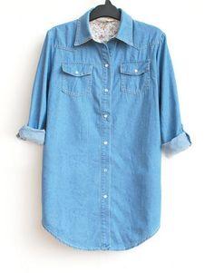Blue Long Sleeve Denim