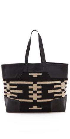I love tote bags. I like black & beige together too.