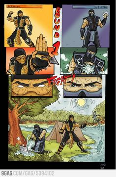 Mortal Kombat camping