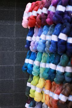 Tanis Fiber Arts. Look at those glowing colours!