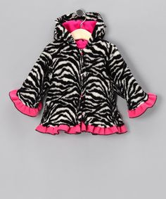 Take a look at this Black Zebra Swing Coat - Infant by Corky & Company on #zulily today! If Snooki was havin a girl I am so sure this would be in her wardrobe!