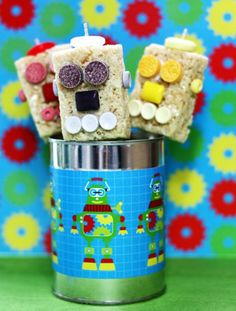Cute Robot Party Ideas via @Kim {The Celebration Shoppe}