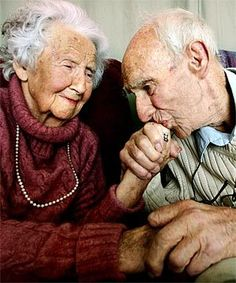 Old couples in love always make me tear up...how beautiful are these two? <3