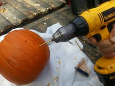 Easy way to carve a pumpkin