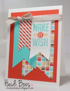 Stylin' Stampin' INKspiration: Happy, Happy Birthday!, Heidi Boos, Stampin' Up!, Perfect Pennants