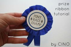 prize ribbon tutorial