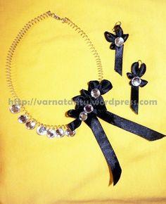 Satin Ribbon Jewelry #howto #tutorial
