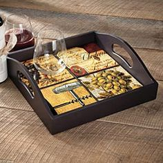 Wine Tiles Serving Tray