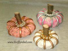 Stuffed Shower Curtain Ring Pumpkins