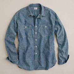 Selvedge chambray utility shirt= all american