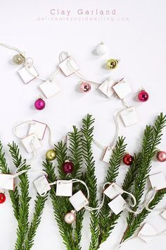 DIY Clay Garland, si
