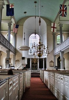 """Old North Church, Boston.""""One if by land, two if by sea.""""...this was one of my favorite places in new england.. i stayed in this church for so long.."""