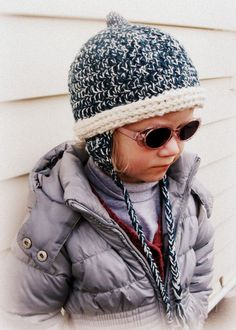CROCHET PATTERN Pixie Earflap Hat - Baby to Adult - Pattern PDF. $4.99, via Etsy.