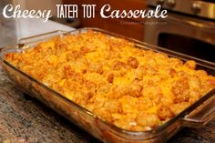 cheese dips, ground beef, tater tots, cheesi tater, dinner recipes, green peppers, ground turkey, casserole dishes, casserole recipes