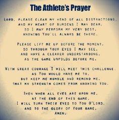 Athlete's Prayer