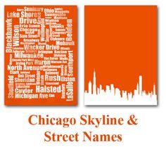 living rooms, street typographi, homes, detroit, chicago skylin, chicago print, black, art projects, country
