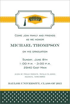 Baylor University Invitations