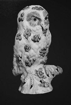Owl,  Bow factory, ca. 1760 - Soft-paste porcelain