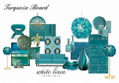 Turquoise Board by white linen interiors  @olioboard #miami