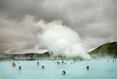 blue lagoon in iceland - looks absolutely amazing.