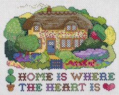 Home Is Where the Heart Is, designed by Jan Eaton, from Tom Pudding Designs.