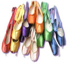 Pointe shoe rainbow.