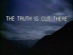 the truth is out there x-files poster