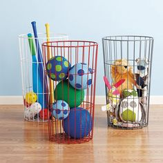 I think these bins from Land of Nod would be great outdoor toy storage.