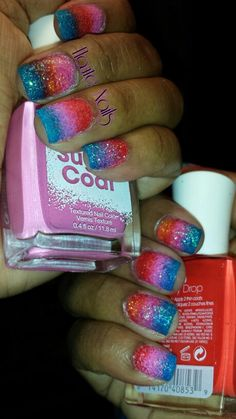Here it is! Ombre sugar coat matte textured nails Www.facebook.com/hautetphaeulz