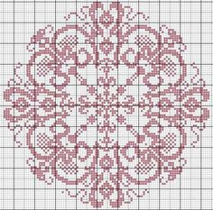Grille Rosace cross-stitch-freebies