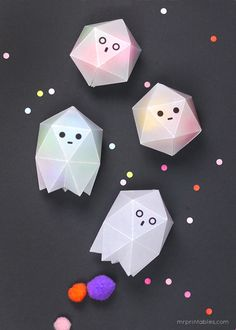 diy wax paper ghost boxes for halloween treats