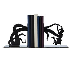 Tentacle Attack Bookends, $65, by Eric Gross
