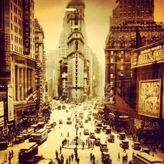 Times Square, 1930, Howard Hughes, Hell's Angels.