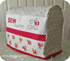 Really cute sewing machine cover - I love the front of it...
