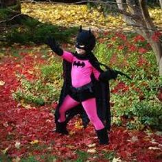 This little guy's got the right idea - even Batman looks good in pink!