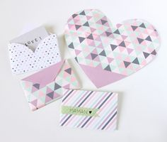 DIY heart envelopes